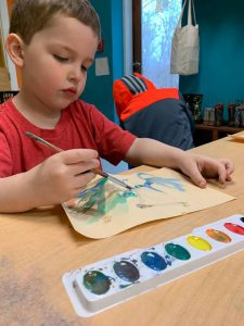 Drew Watercoloring